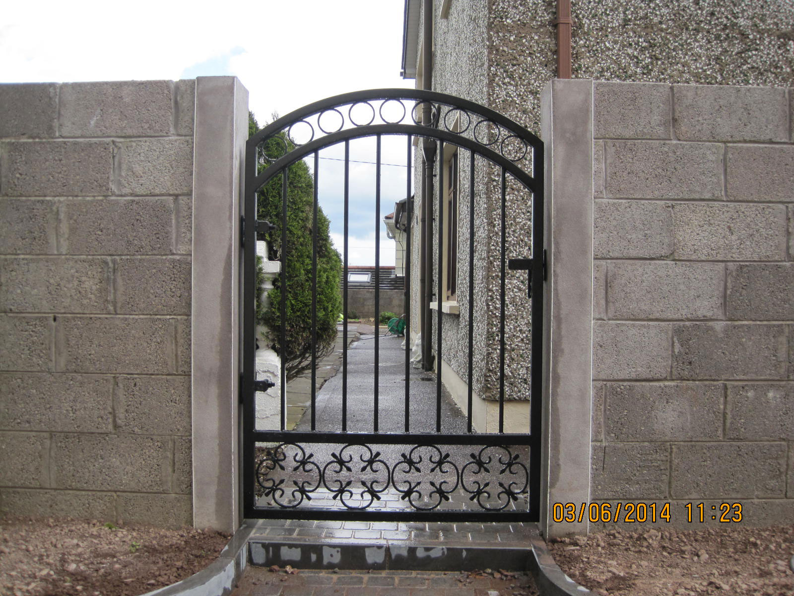 Wrought Iron Side Gate 12