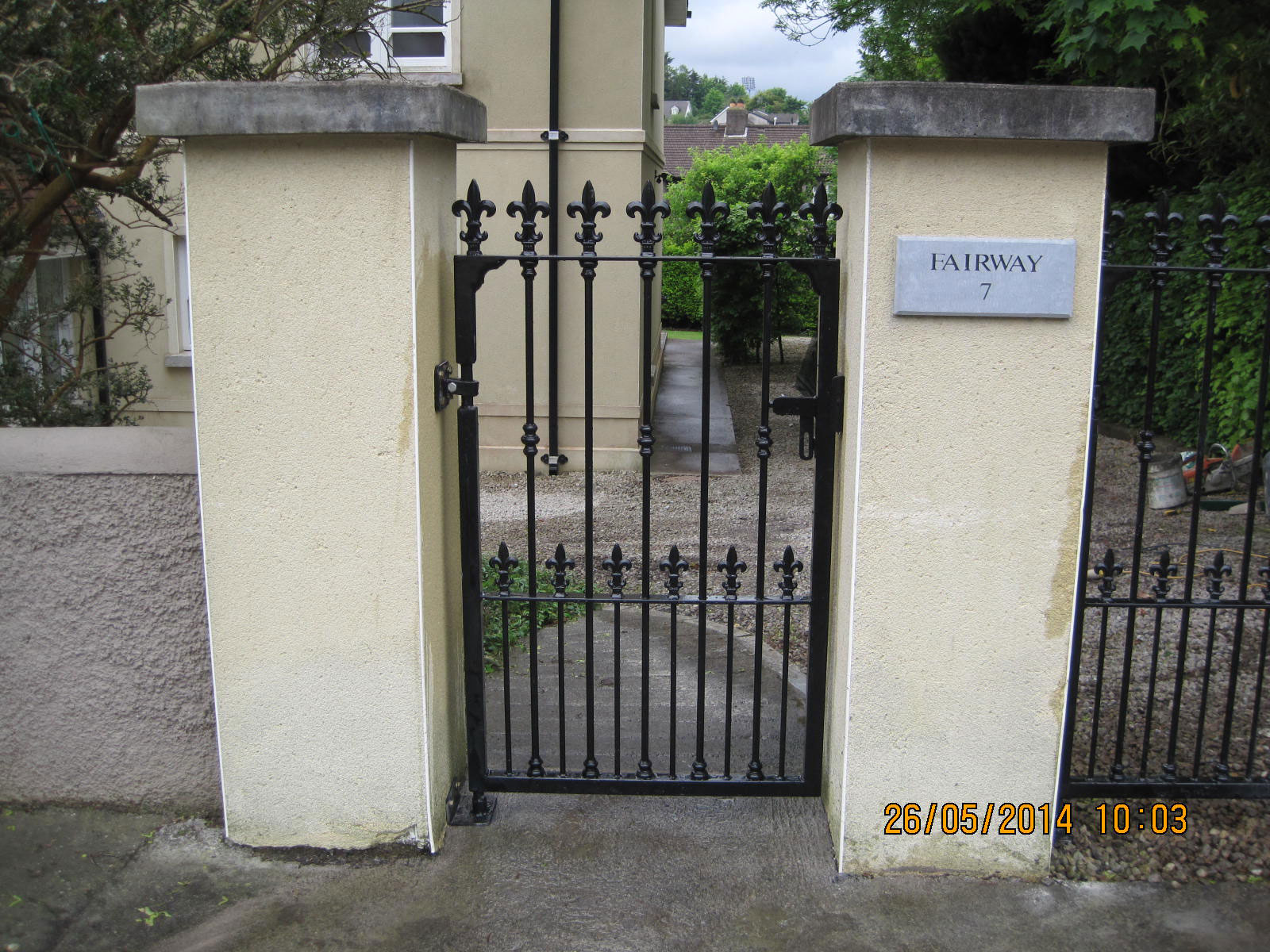 Wrought Iron Side Gate 13