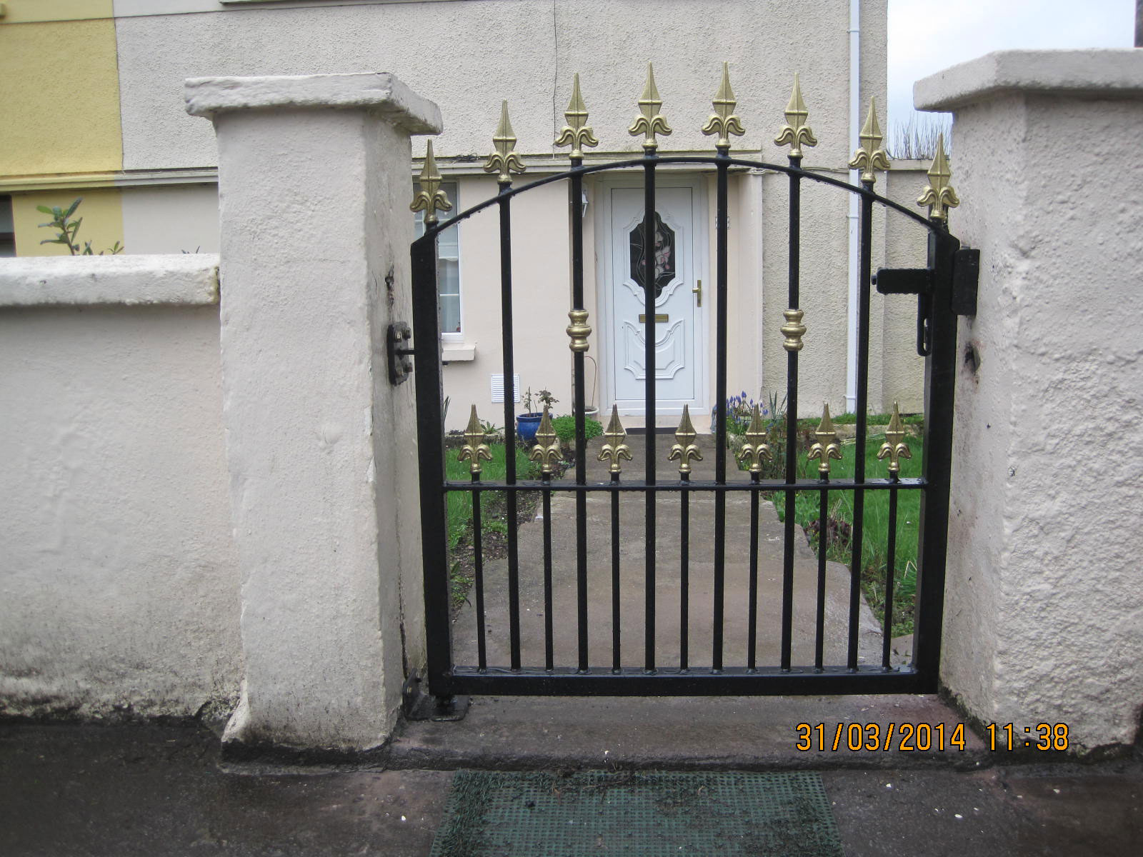 Wrought Iron Side Gate 14
