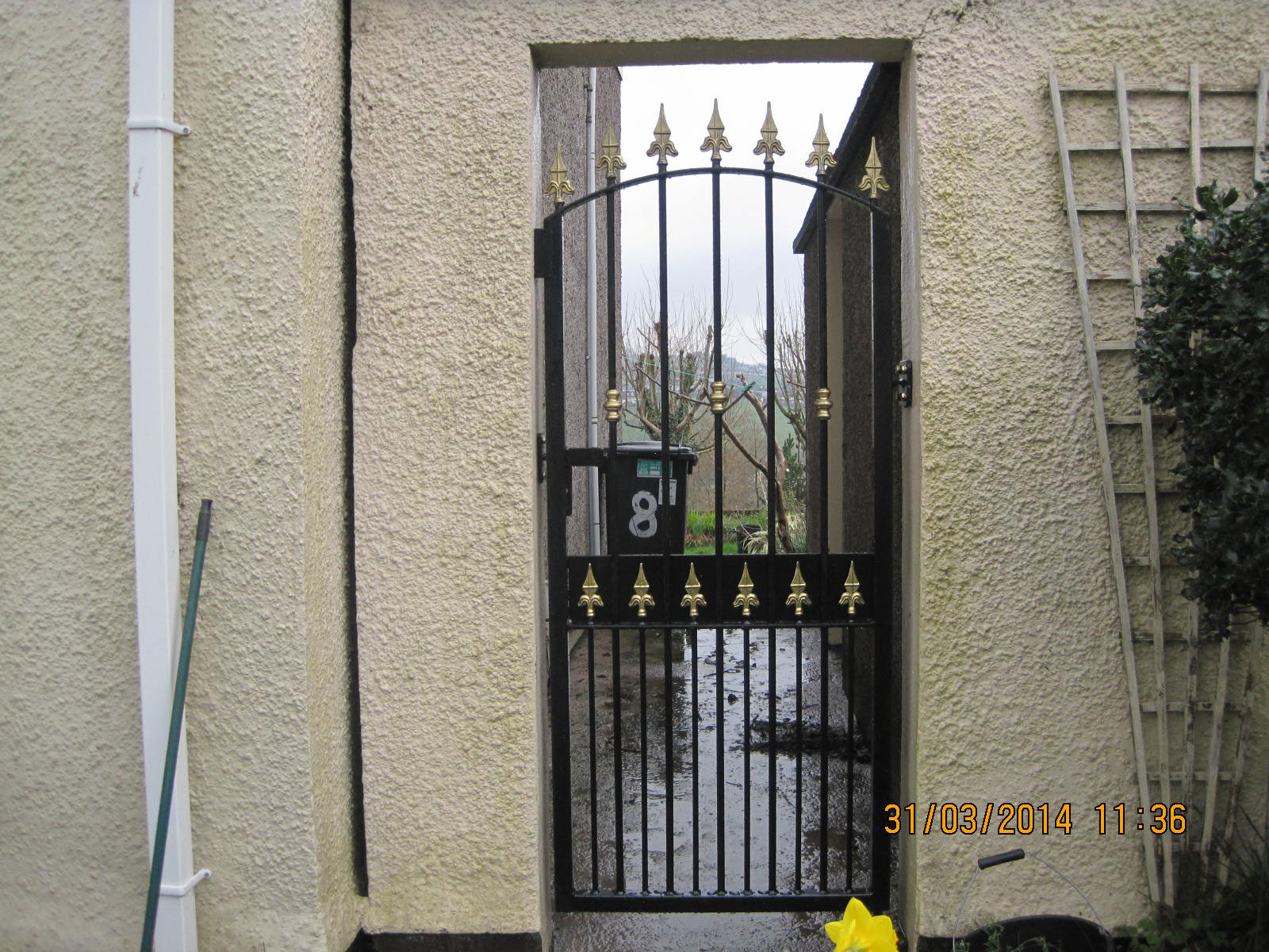 Wrought Iron Side Gate 15