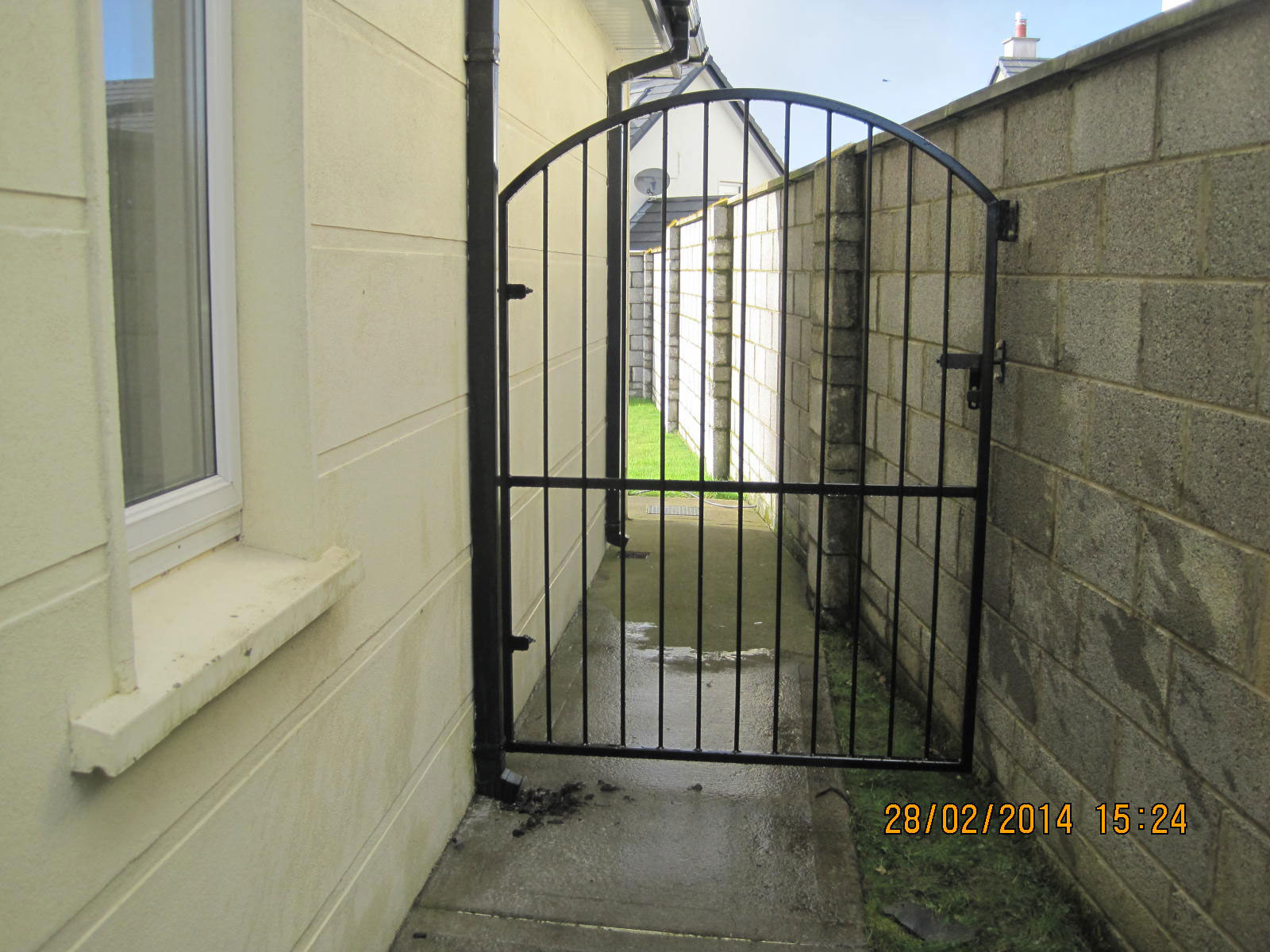 Wrought Iron Side Gate 16