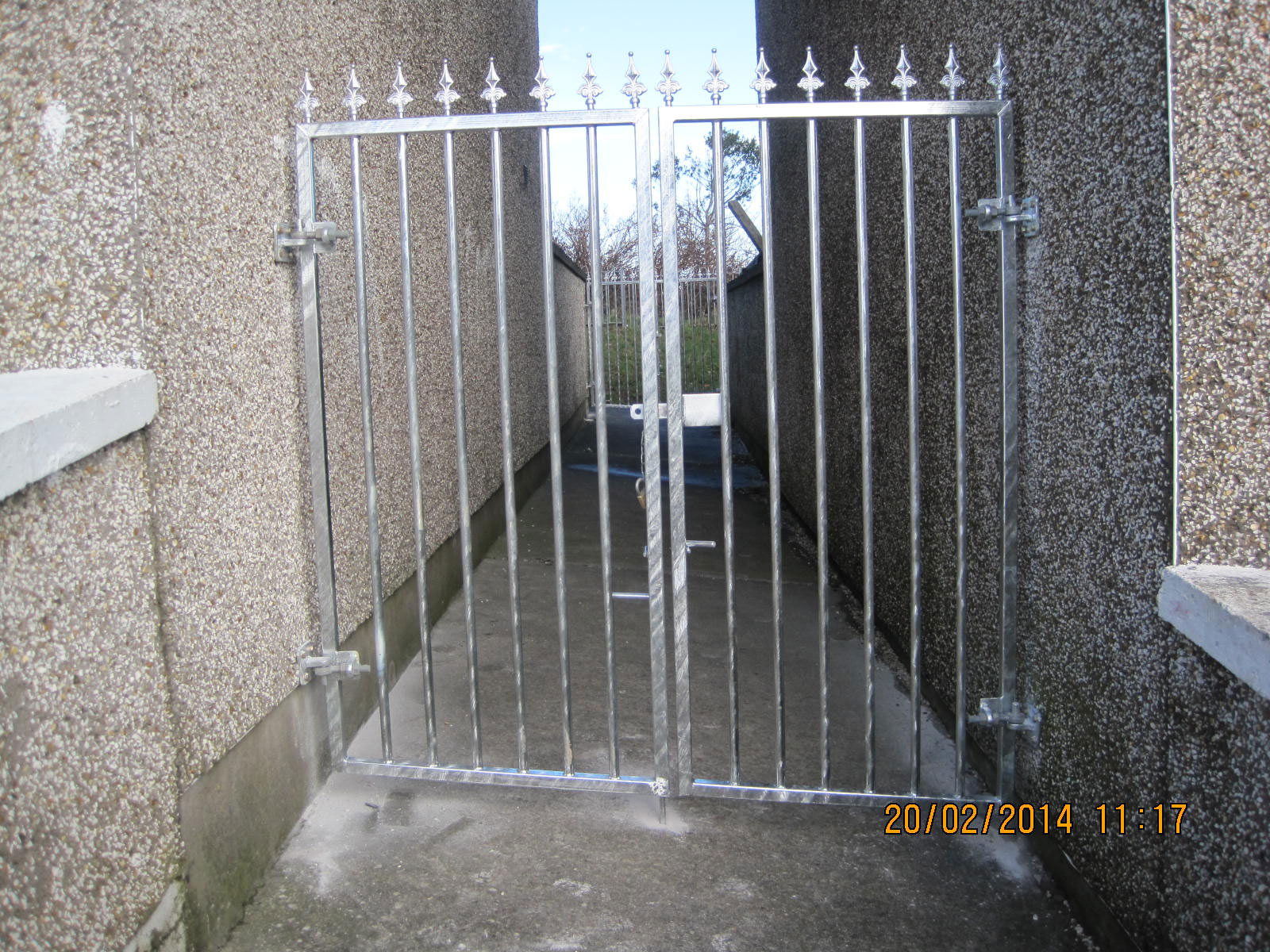 Wrought Iron Side Gate 17