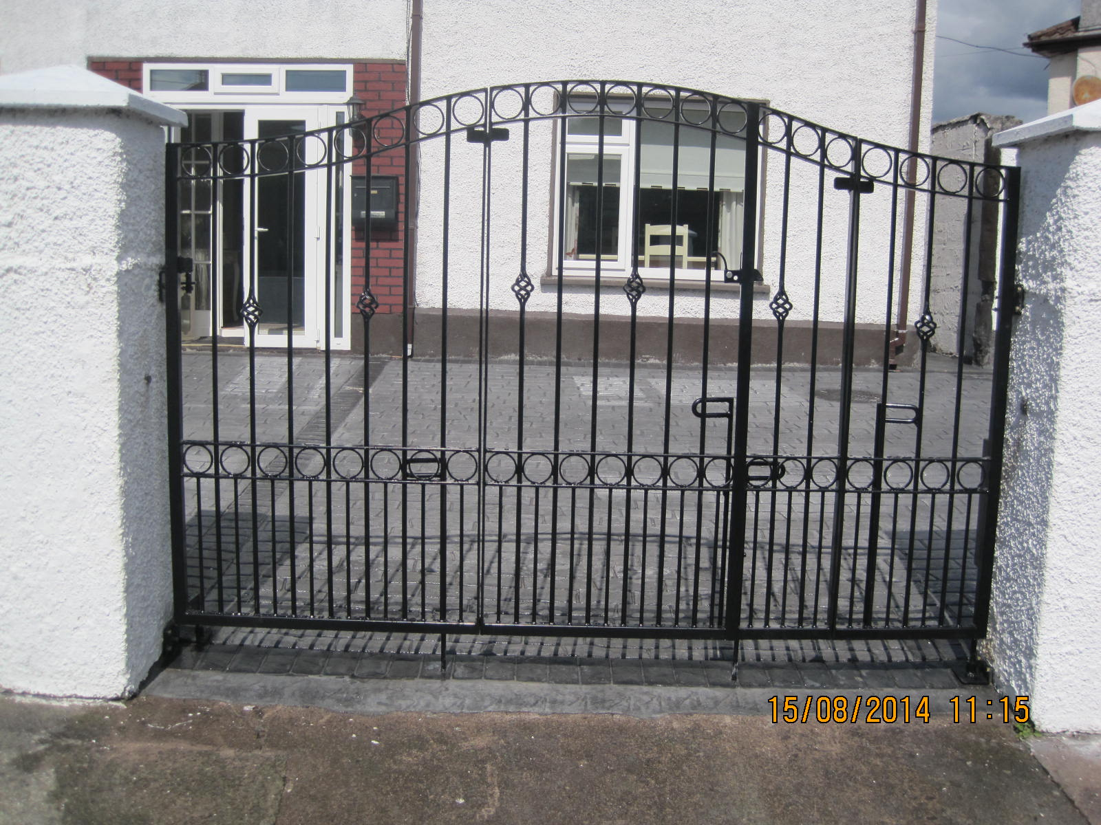 Wrought Iron Side Gate 8