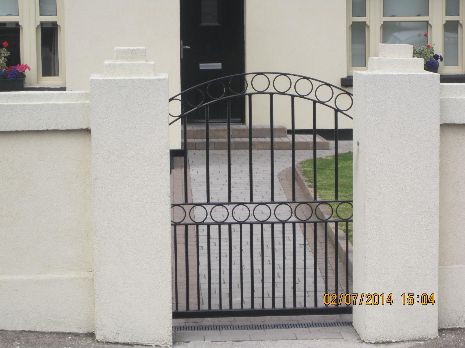 Wrought Iron Side Gate 9